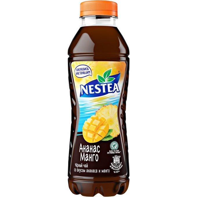 Черный чай Нести (Nestea) со вкусом Манго-Ананаса 500мл.