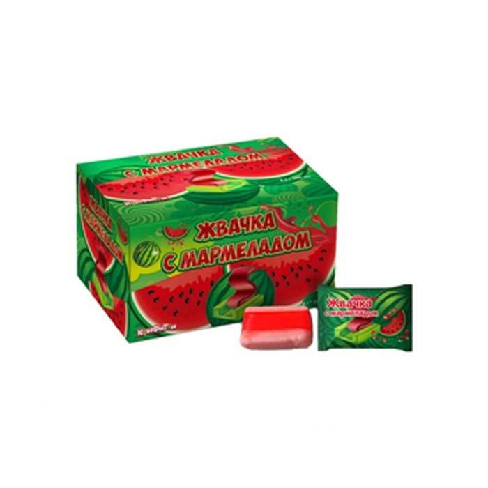 ГАММИ ФРУТ жевательная резинка с мармеладом со вкусом арбуза 4гр.
