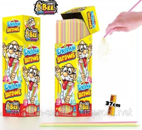Johny Bee Dr Lab Straws 7.5gr 37см кислый порошок в трубочке разных цветов