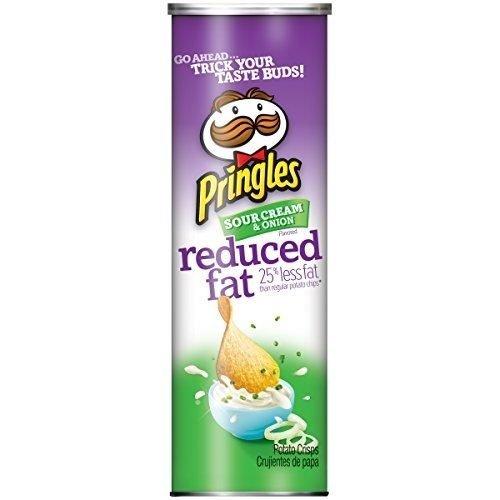 Pringles Sour Cream and Onion  Картофельные чипсы со вкусом лука и сметаны (обезжиренные)  158gr