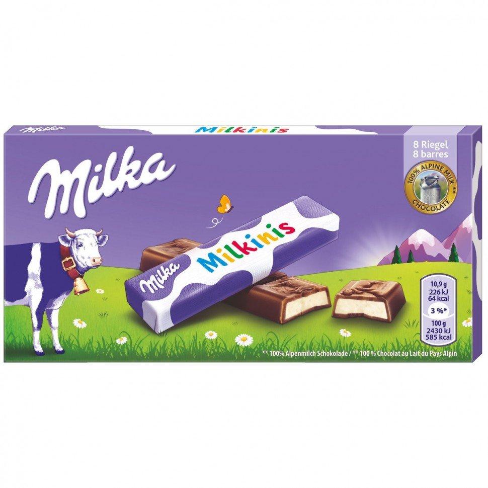 Шоколад Milka milkinis stik 87,5гр (Батончики в индивидуальной упаковке)