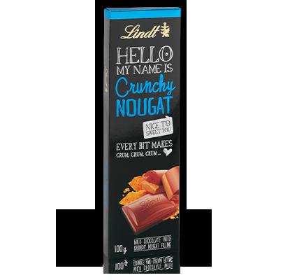 Шоколадный батончик Lindt Hello Crunchy Nougat 39г